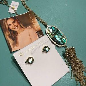 Kendra Scott Custom Abalone Pendant Necklace